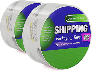 1 88 X 54 6 Yards Heavy Duty Packaging Tape Super Clear Packing Versatile Tape