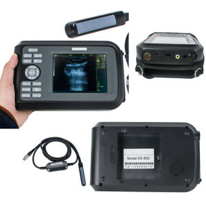Portable Ultrasound Scanner Veterinary Cow horse animal 7 5mhz Rectal Case