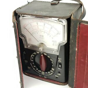 Triplett Model 630 pl Milliammeter Type 2 Tested Ohm Meter Leads And Case