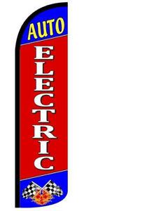 Auto Electric Windless Swooper Flag 3x11 5 Ft Feather Banner Sign Rz