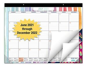 Desk Calendar 2021 2022 Large Monthly Pages 22 x17 Runs From 22 X 17