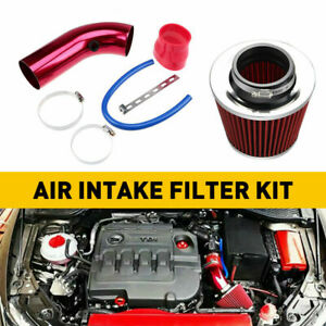 Car Cold Air Intake Filter Induction Kit 76mm Universal Car Accessories Red