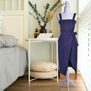 Female Mannequin Torso Dress Form Tripod Stand Woman Clothing Coat Display White