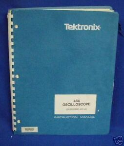 Tektronix 434 Oscilloscope Instr Manual W schemtics