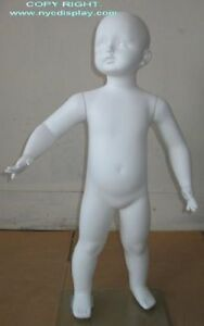 2t 3t Size Child Toddler Full Size Mannequin Torso Form White Color New Cb2w