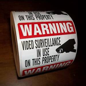 Security Cctv Cameras In Use Camera Warning Sticker Lot