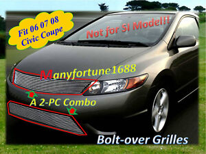 2008 08 06 07 Honda Civic Coupe New Billet Grille Comb 2007 2006