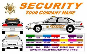 Security Vehicle Super Dlx Lettering Decals Free Shpn