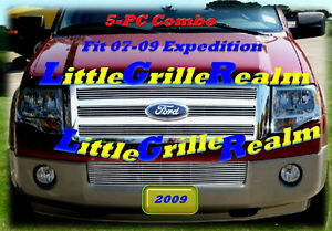 07 08 09 2008 2009 2007 Ford Expedition Billet Grille Combo