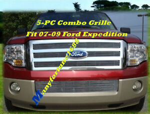 07 08 09 2009 Ford Expedition Billet Grille Combo 2007