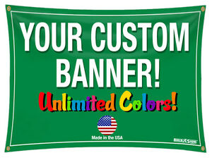 3 x 15 Full Color Custom Banner 13oz Vinyl 3x15