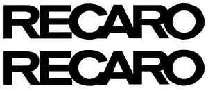 Set Of 2 Recaro Seats Decal Sticker Car Racing Rally