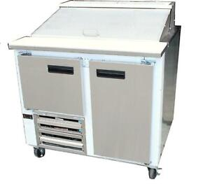 Cooltech 1 1 2 Door Refrigerated Sandwich Prep Unit 36