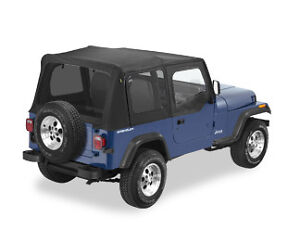 1987 1995 Jeep Wrangler Yj Black Denim Replacement Soft Top