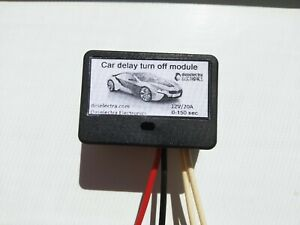 Direct 12v Out Car Timer Switch Time Relay 1 150 Sec Kit Delay Off Box 12v 20a