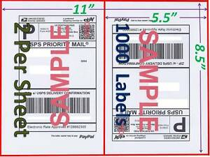 1000 Self Adhesive Shipping Blank Labels 8 5 X 5 5 Paypal