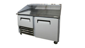 48 New Us made Two 1 1 2 Door Refrigerated Dough Retarader Pizza Prep Table