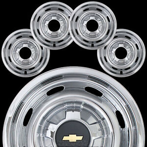 4 New 2004 2010 Chevy Colorado 15 6 Lug Chrome Wheel Skins Hub Caps Rim Covers