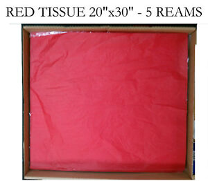 1 Case Red Tissue Paper Top Quality 20x30 2300 Sheets