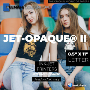 Jet Opaque Ii T shirt Inkjet Dark Iron On Transfer Paper 50 Sheets 8 5 X 11