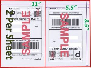 7000 Shipping Blank Labels 8 5x5 5 Paypal Self Adhesive