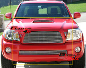 Fits 2005 2010 Toyota Tacoma Billet Grille Combo Insert