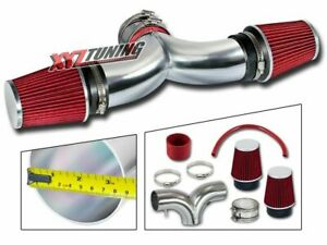 3 5 Red Dual Twin Air Intake Induction Kit Filter For 97 00 Corvette 5 7l V8