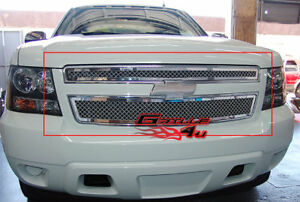 Fits 2007 2014 Chevy Tahoe suburban avalanche Mesh Main Upper Grille