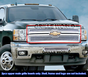 Aps Fits Chevy Silverado 2500hd 3500hd Stainless Mesh Grille Insert 2011 2014