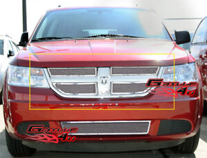 Fits 2009 2010 Dodge Journey Stainless Mesh Main Upper Grille Insert