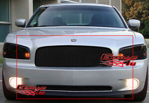 Fits 2005 2010 Dodge Charger Black Mesh Grille Combo Insert Fits 2010 Dodge Charger