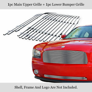Fits 2005 2010 Dodge Charger Chrome Billet Grille Insert Combo