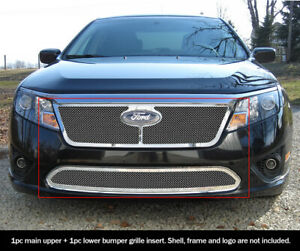 Fits 2010 2012 Ford Fusion Mesh Grille Combo Insert
