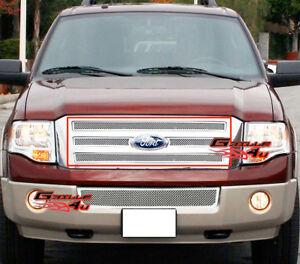 Fits 2007 2014 Ford Expedition Stainless Mesh Main Upper Grille Insert
