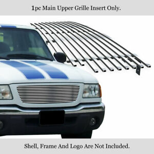Fits 2001 2003 Ford Ranger Xlt Xl 2wd Billet Main Upper Grille Insert