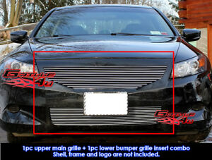 Fits 2008 2010 Honda Accord Coupe Billet Grille Combo Insert