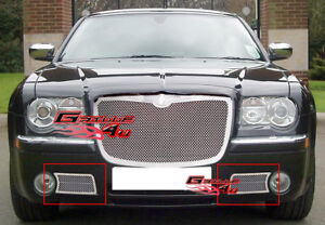 Fits 2005 2010 Chrysler 300c Lower Bumper Stainless Mesh Grille Insert