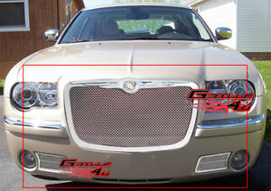 Fits 2005 2010 Chrysler 300c Stainless Steel Mesh Grille Combo