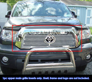 Fits 2007 2009 Toyota Tundra Stainless Steel Mesh Main Upper Grille Insert