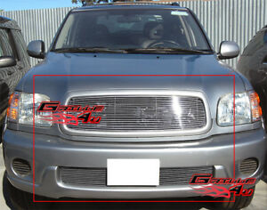 Fits 2001 2004 Toyota Sequoia Billet Grille Combo Insert