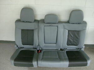 Ford F 150 Lariat Limited Gray Leather Rear Seat