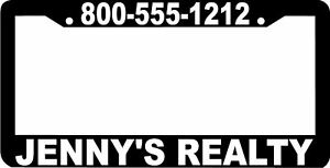 Custom Personalized Realtor Realty License Plate Frame