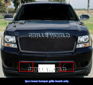 Fits 2007 2014 Tahoe Avalanche Suburban Lower Bumper Black Mesh Grille