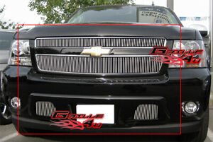 Fits 2007 2014 Chevy Tahoe Vertical Billet Grille Combo