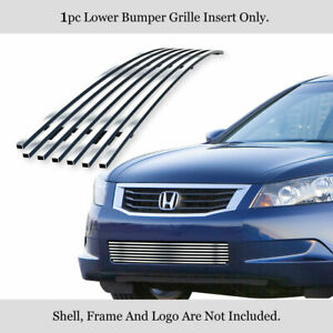 Fits 2008 2010 Honda Accord Sedan Lower Bumper Billet Grille Insert