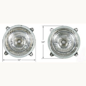 Pair Of Headlights For Massey Ferguson Tractor 158 20d 50h 290 595
