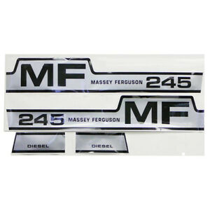 M608h1 Hood Decal Set With Hump For Massey Ferguson Tractor 245