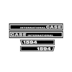Hood Decal Set For Case International C1594 Tractor 1594