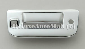 Chrome Tailgate Handle Cover With Camera Cut Out For Gmc Sierra Chevy Silverado