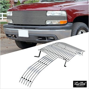 Fits 1999 2002 Chevy Silverado 1500 Full Face Billet Main Upper Grille